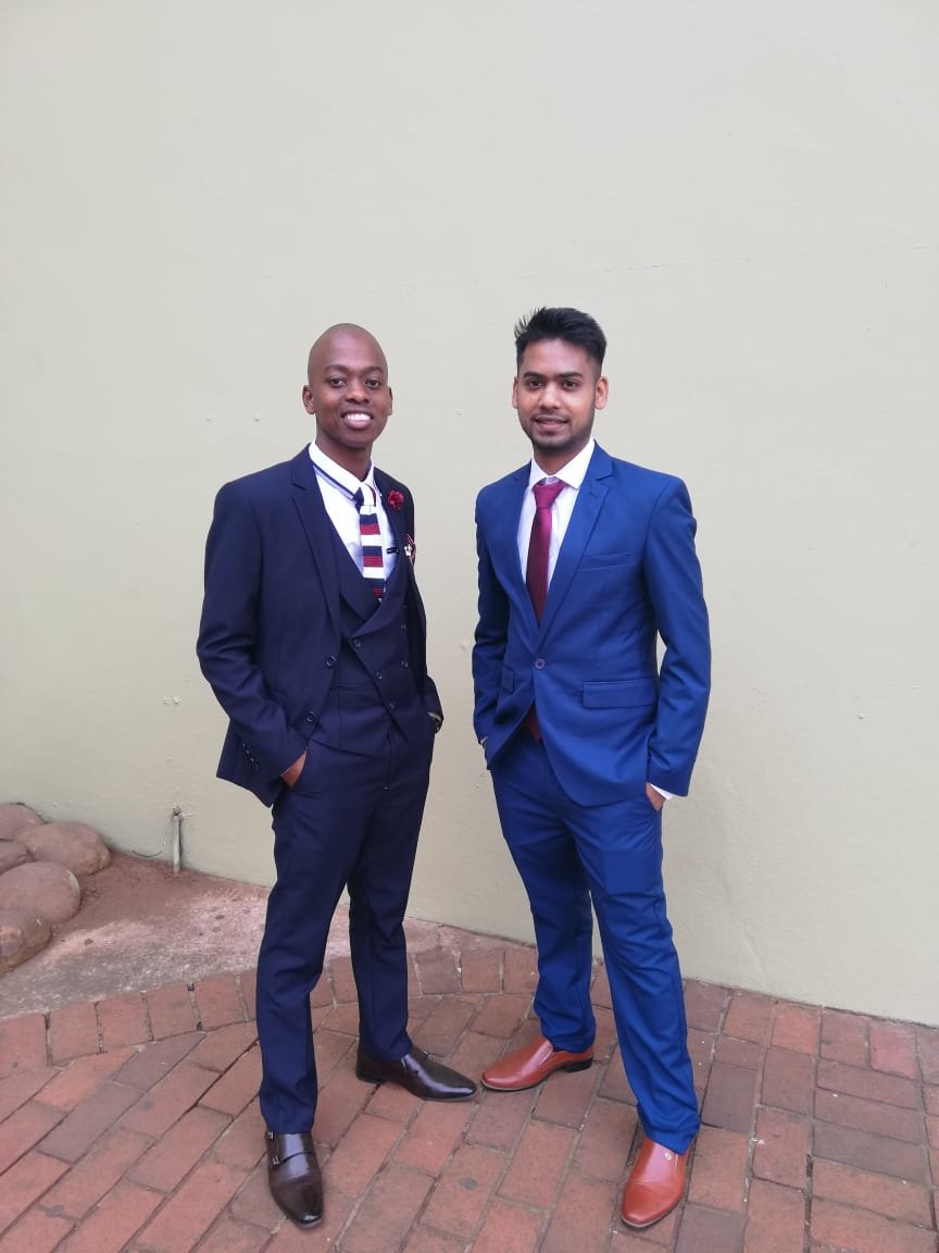 Simphiwe Zulu (Left) & Jason Moodley (Right) graduated from DUT at  the DUT Sports Centre on 4 September 2019.